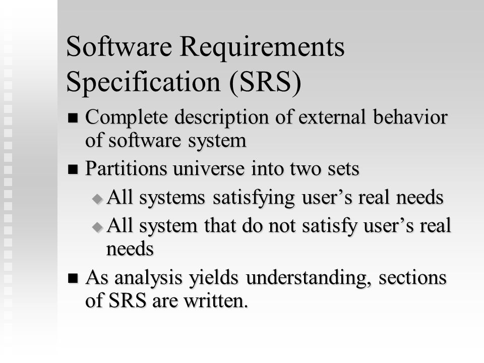 Software Requirements Specification (SRS) Complete