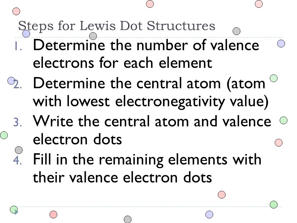 Bond Types And Lewis Dot Structures Chemistry Section Ppt Download