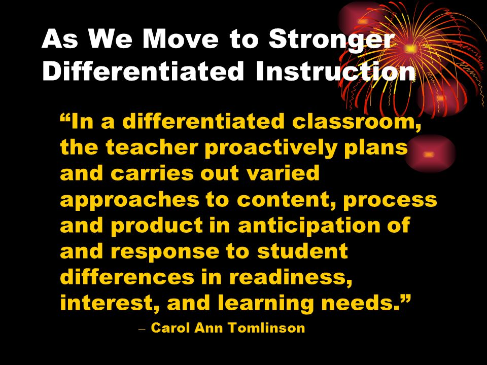 Why Differentiation Misses Mark For >> Differentiated Instruction Teaching Is Hard But Rewarding Work