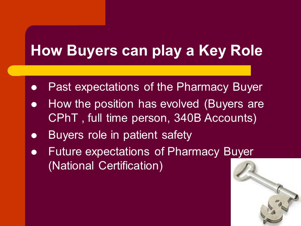 Buyers Taking an Active Role in Patient Safety Patrick Gallagher ...