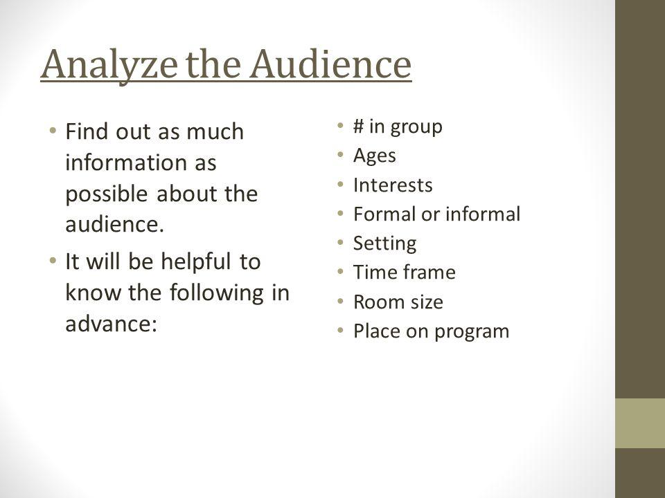 Prepared Public Speaking Things to consider when writing, preparing ...