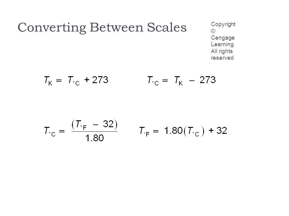 Converting Between Scales Copyright © Cengage Learning. All rights reserved