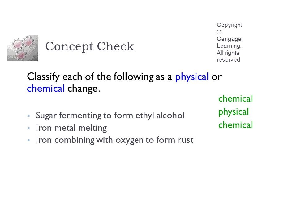 Concept Check Copyright © Cengage Learning.