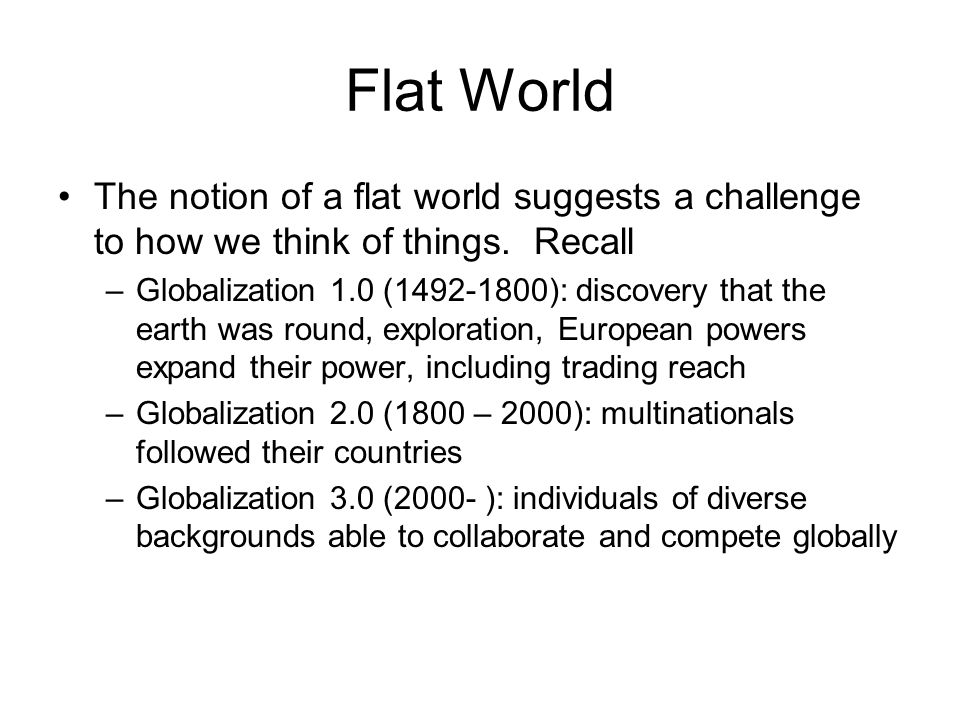 world flatteners