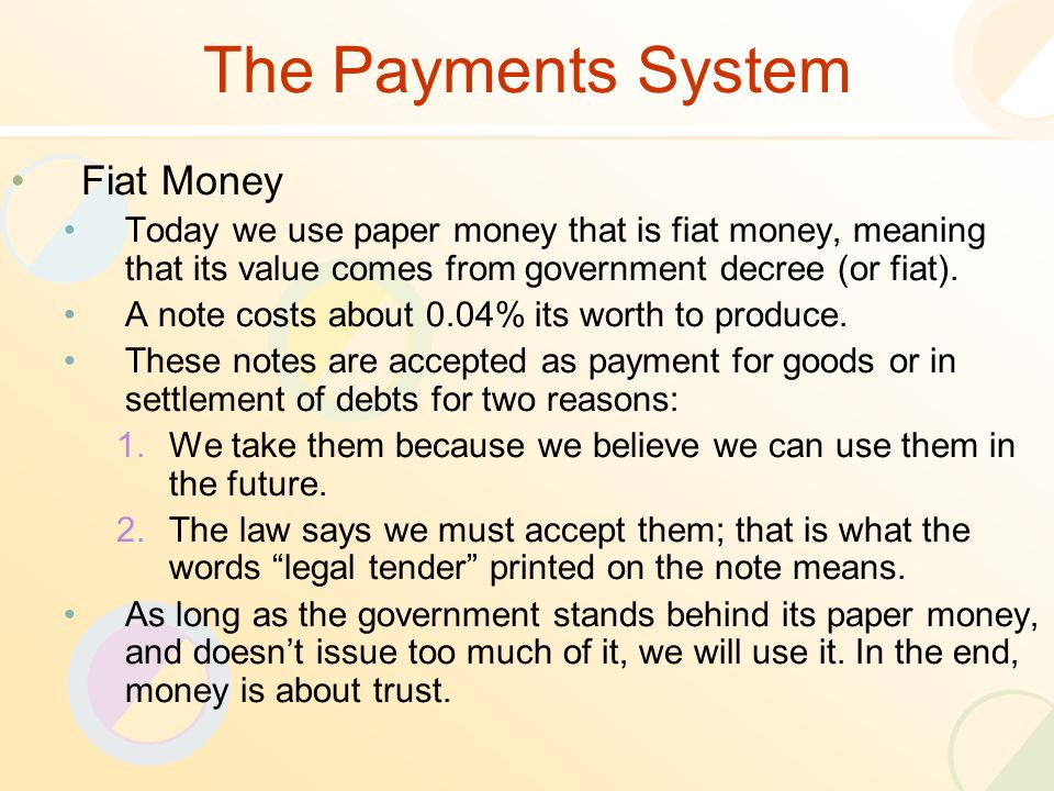 money and banking lecture 03. review of the previous lecture five