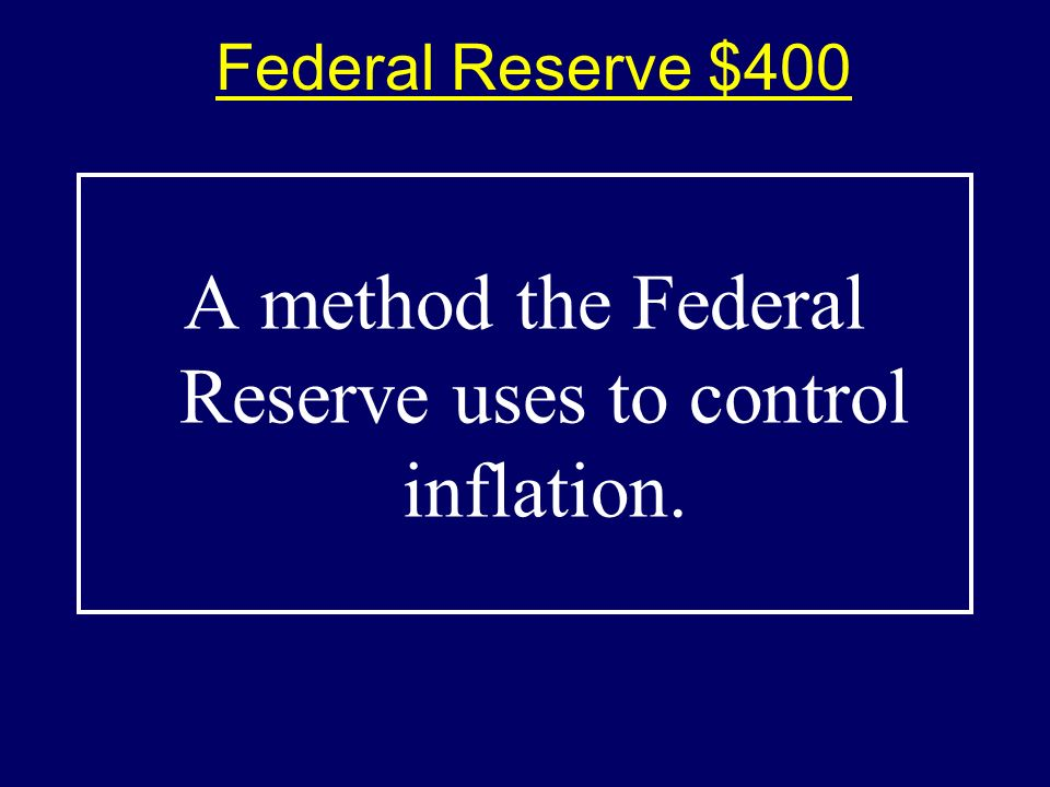 Federal Reserve $300-Answer$300-Answer What is the discount rate