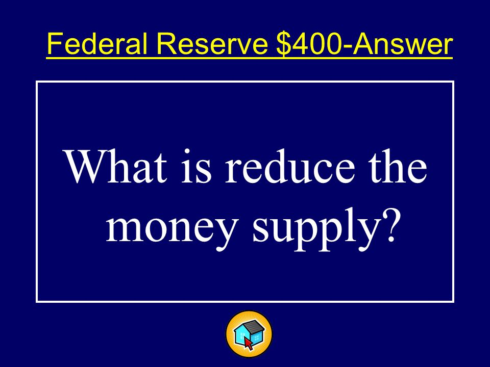 Federal Reserve $400$400 A method the Federal Reserve uses to control inflation.
