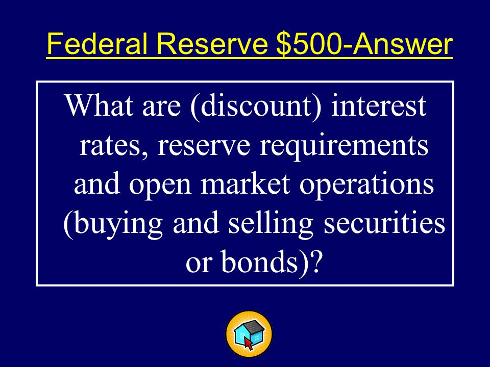 Federal Reserve $500$500 Three tools of the Federal Reserve's monetary policy.
