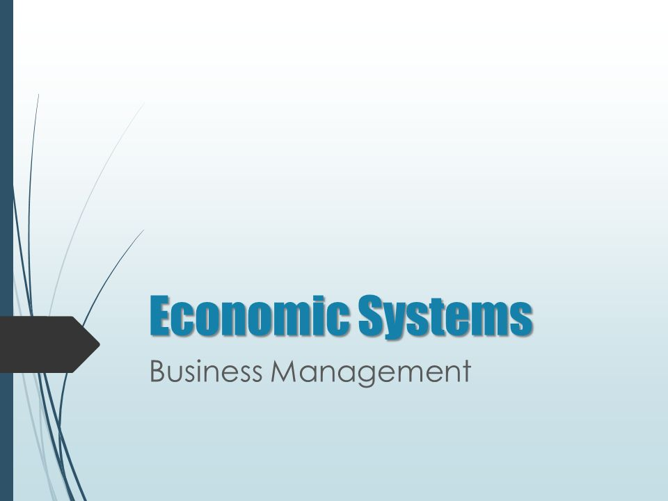 Economic Systems Business Management