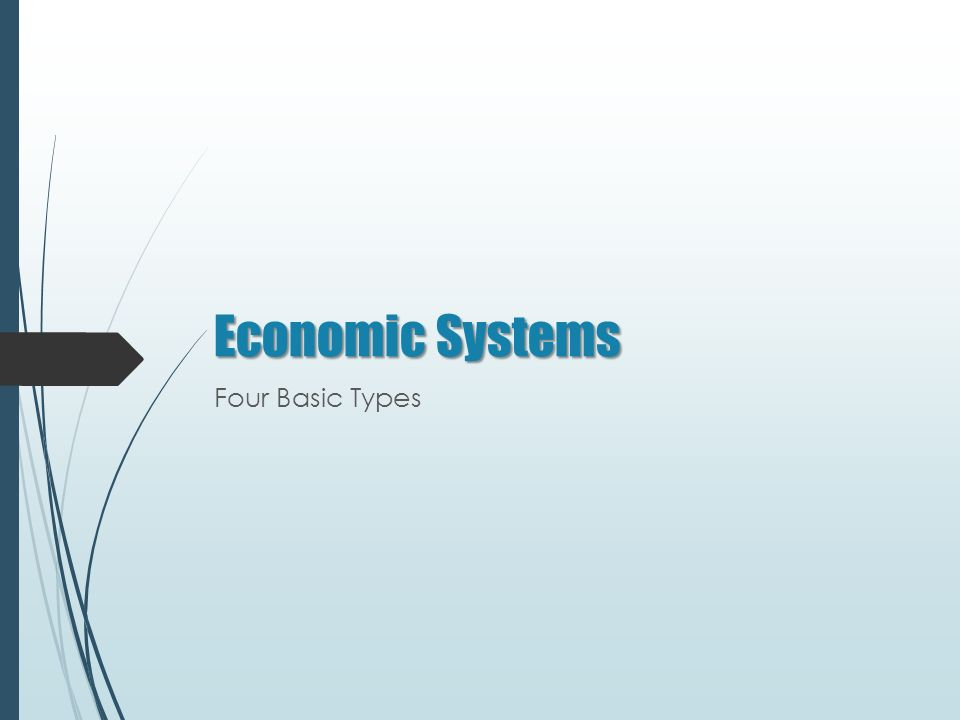 Economic Systems Four Basic Types