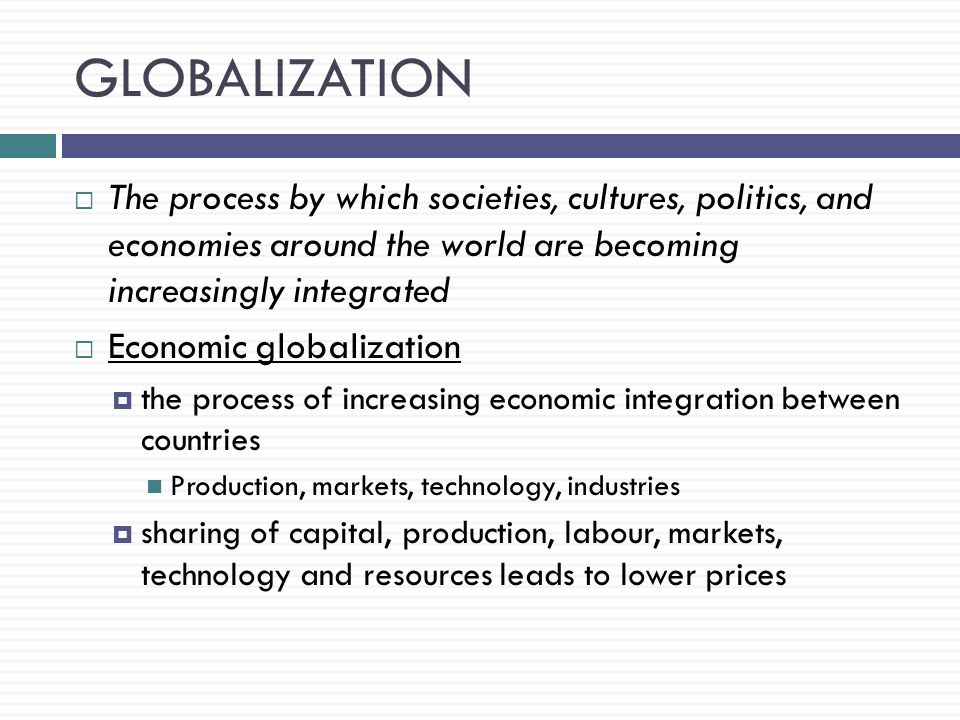 what is globalization in business