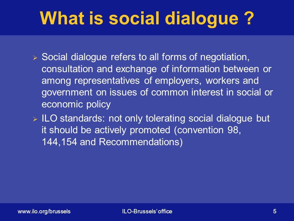 What is social dialogue .