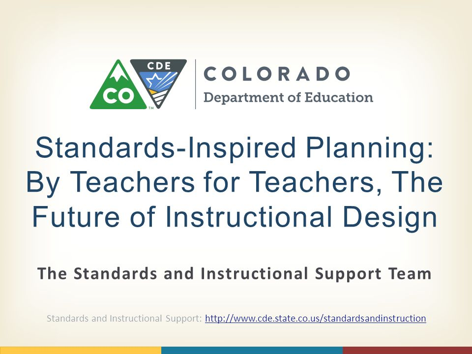 The Standards And Instructional Support Team Standards Inspired