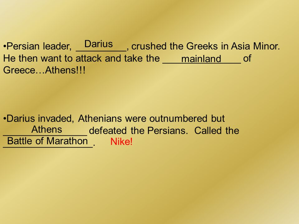 Persian leader, _________, crushed the Greeks in Asia Minor.