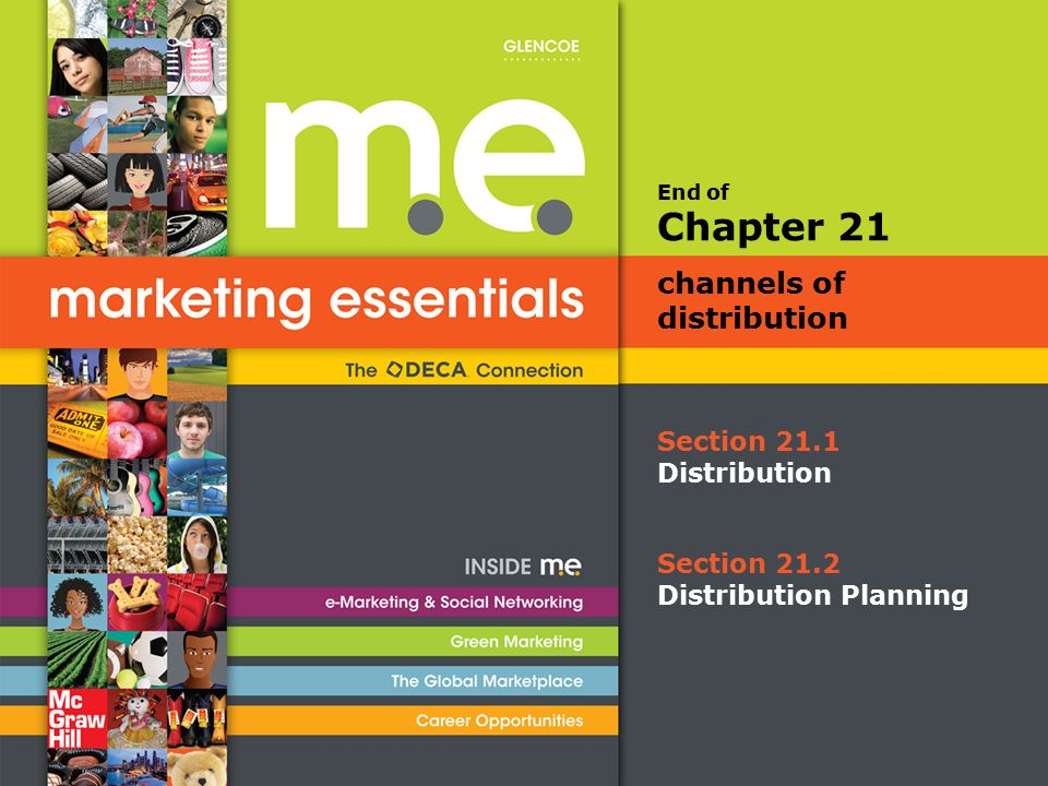 End of Section 21.1 Distribution Chapter 21 channels of distribution Section 21.2 Distribution Planning