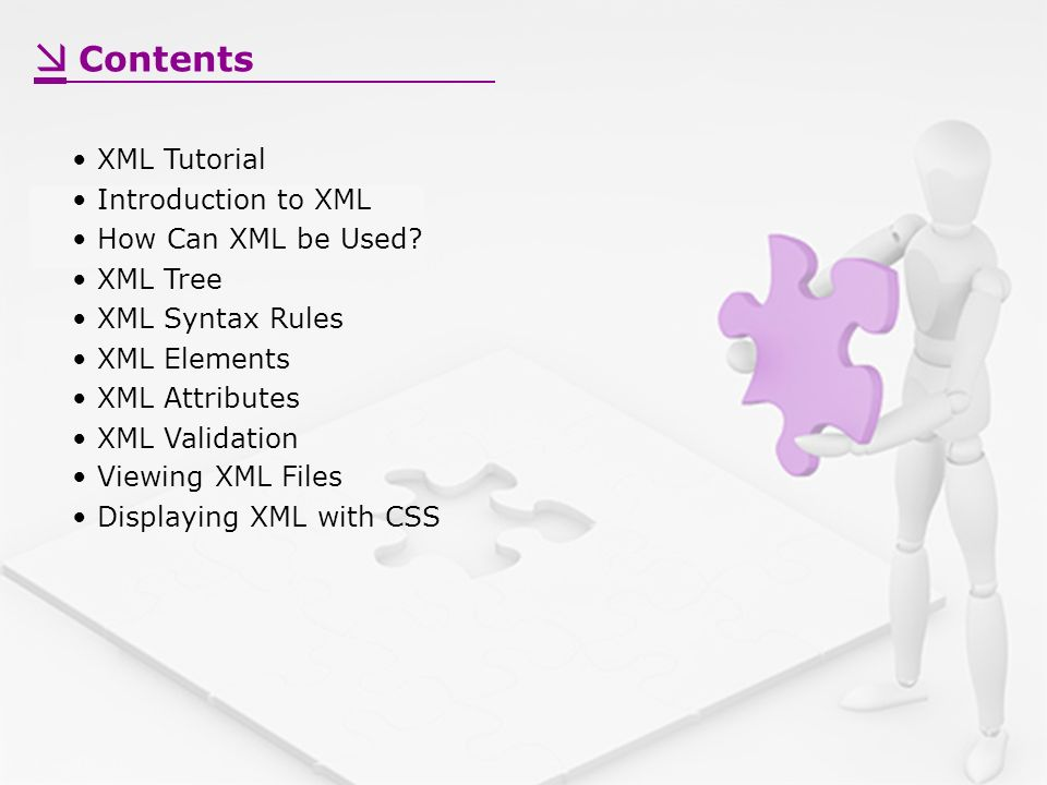 Contents XML Tutorial Introduction to XML How Can XML be Used.