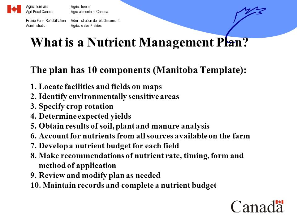 Nutrient Management Planning Canada-Manitoba Farm Stewardship ...