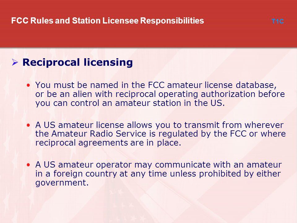 Fcc amateur licensing