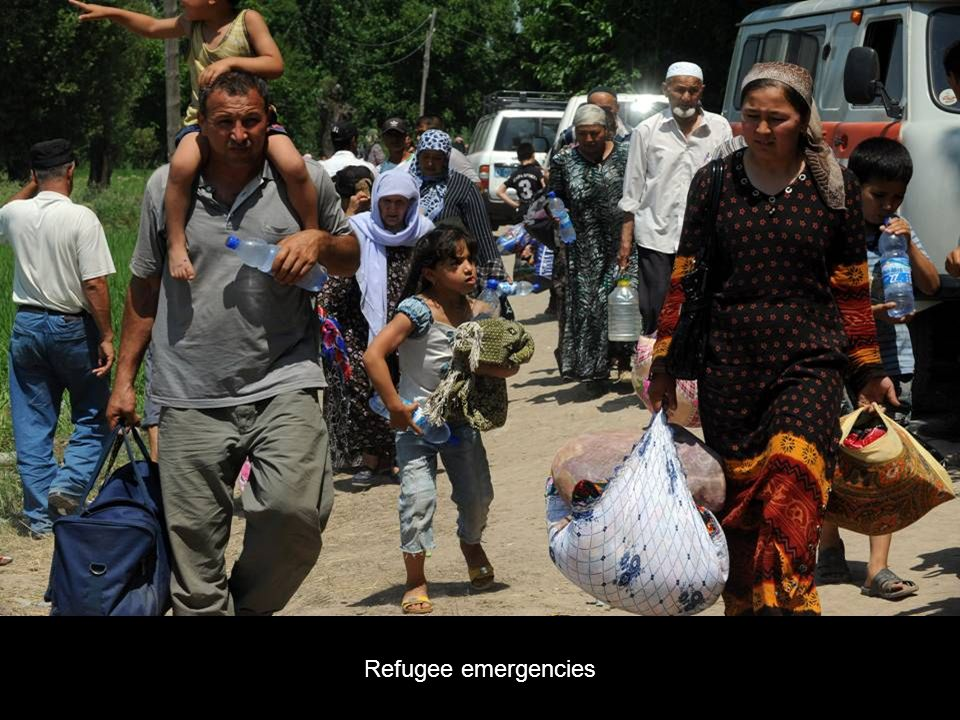 Refugee emergencies