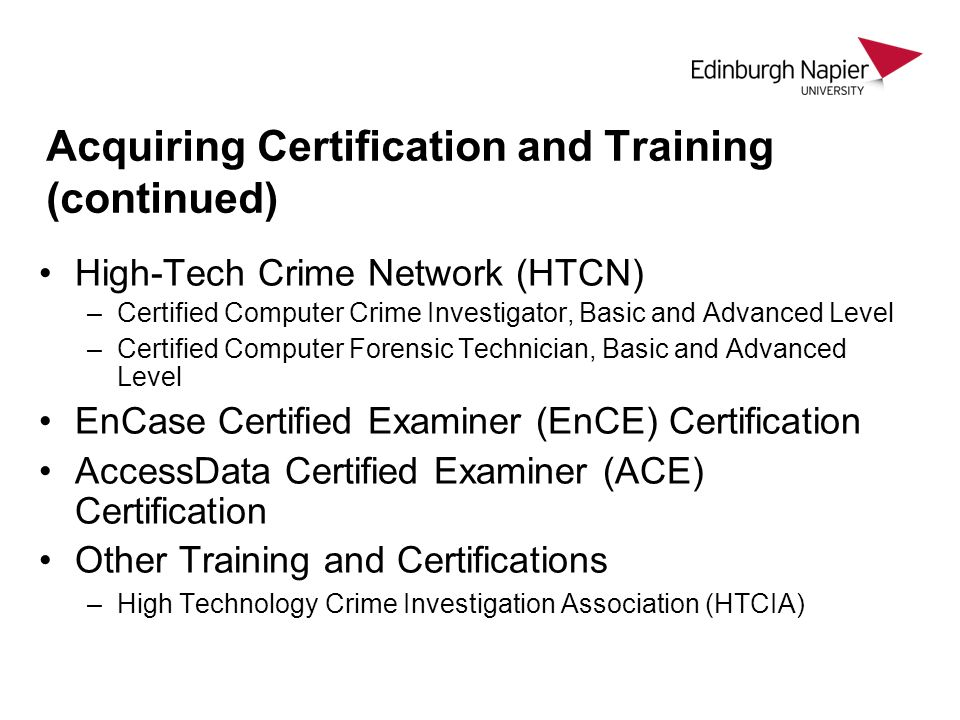 Csn08101 Digital Forensics Lecture 4a Forensic Processes Module