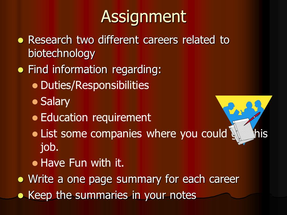 Biotechnology Careers Objective Primary Careers Areas of