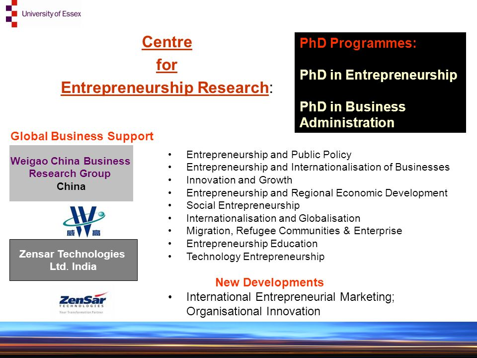 Entrepreneurship and Innovation Group and The Centre for