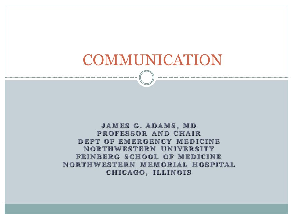 JAMES G  ADAMS, MD PROFESSOR AND CHAIR DEPT OF EMERGENCY
