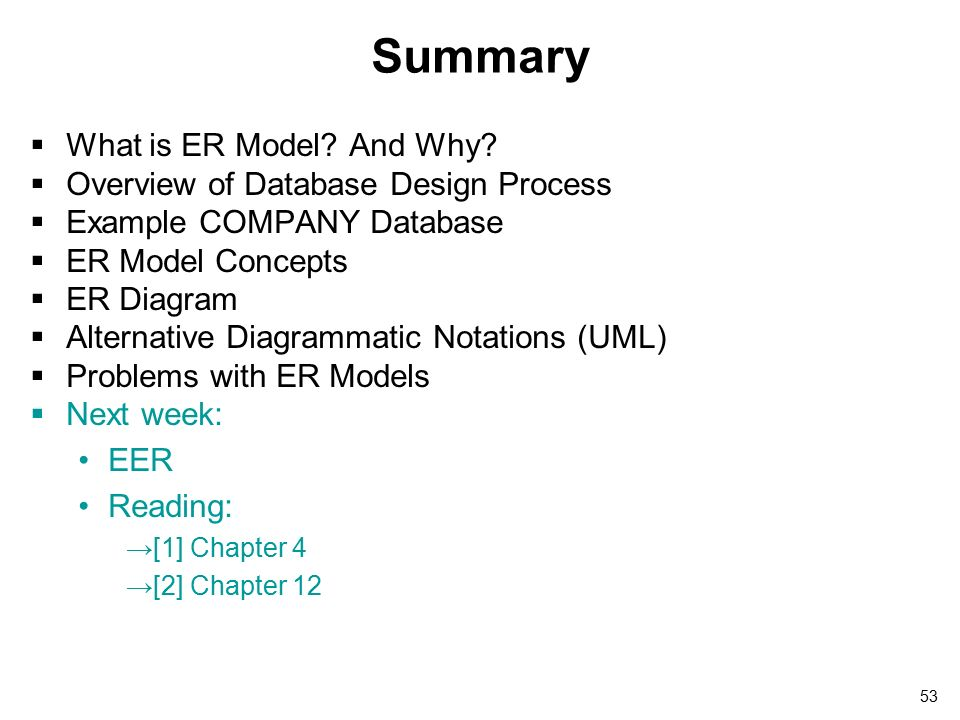 Entity Relationship Model 2 Outline What Is Er Model And Why