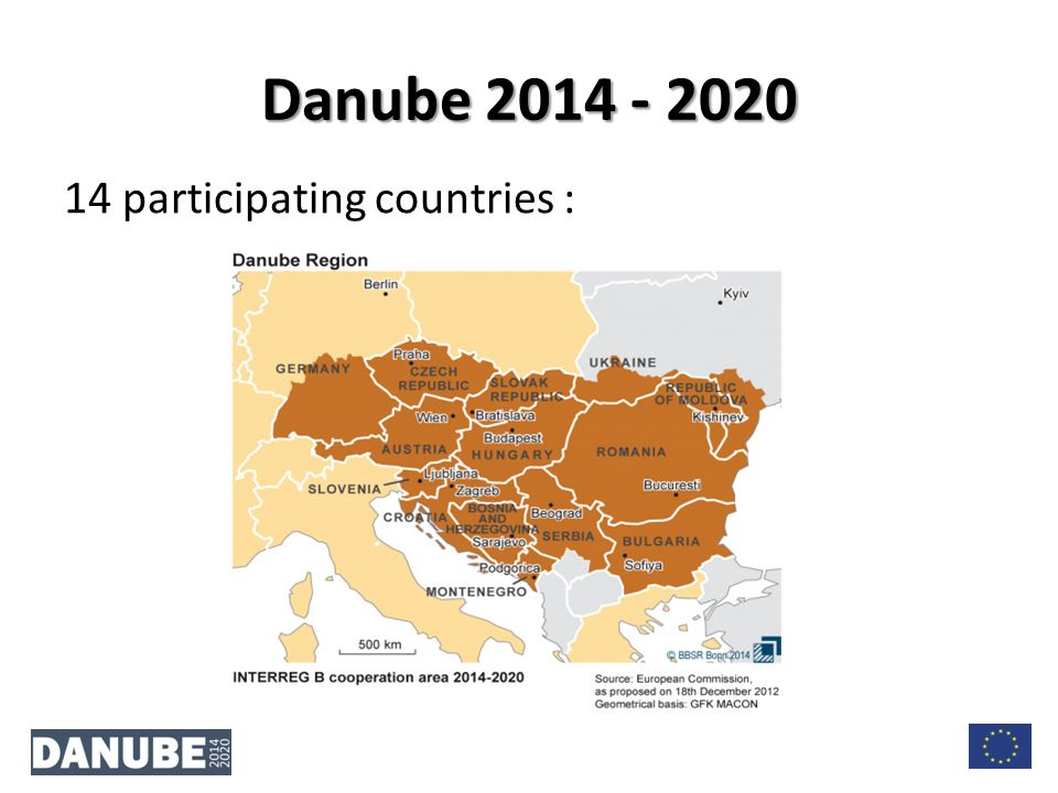 14 participating countries : Danube