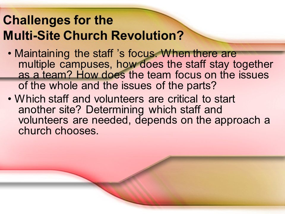 Are You Ready For The Multi Site Church Revolution By Tom Cheyney