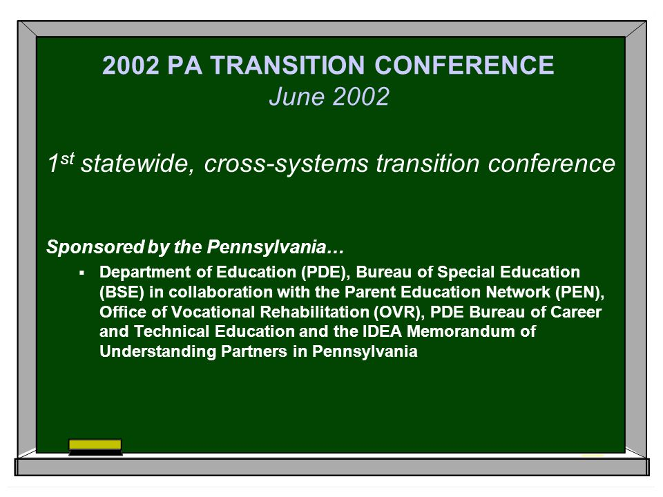 Statewide Transition Conference For >> Transition Professional Development The Pennsylvania Model