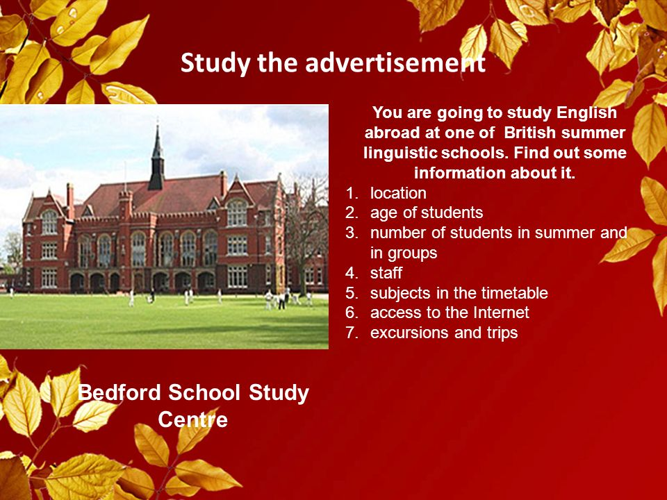 Let's take a trip around British summer schools and choose