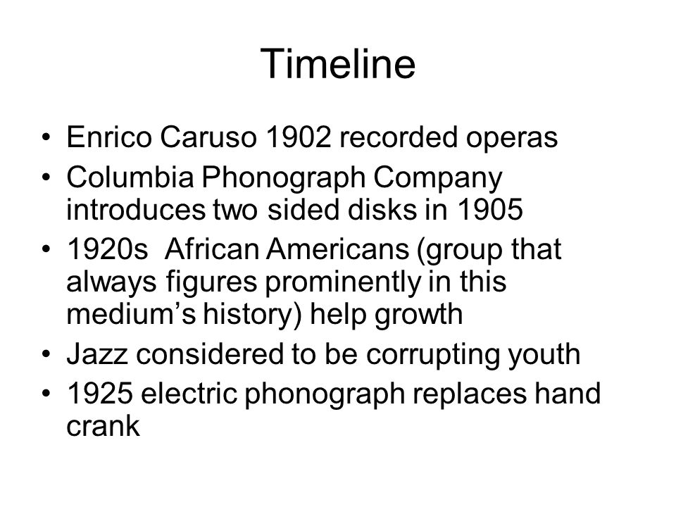 recorded music powerful and controversial timeline sheet music