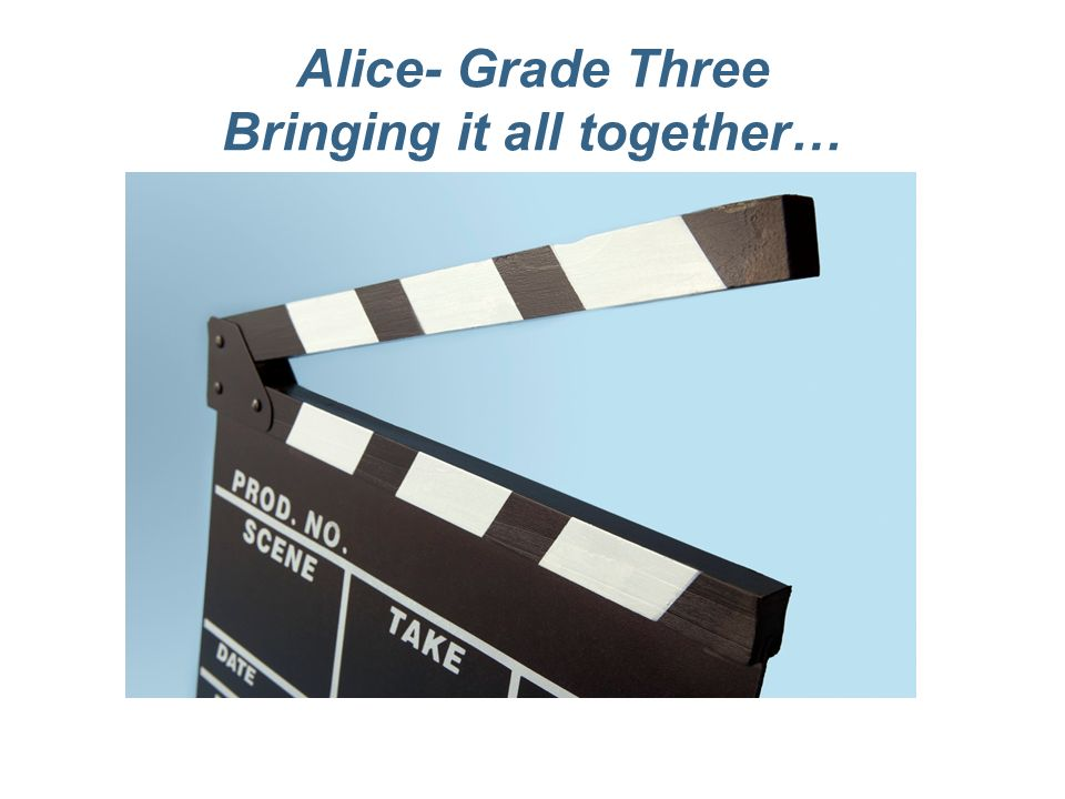 Alice- Grade Three Bringing it all together…