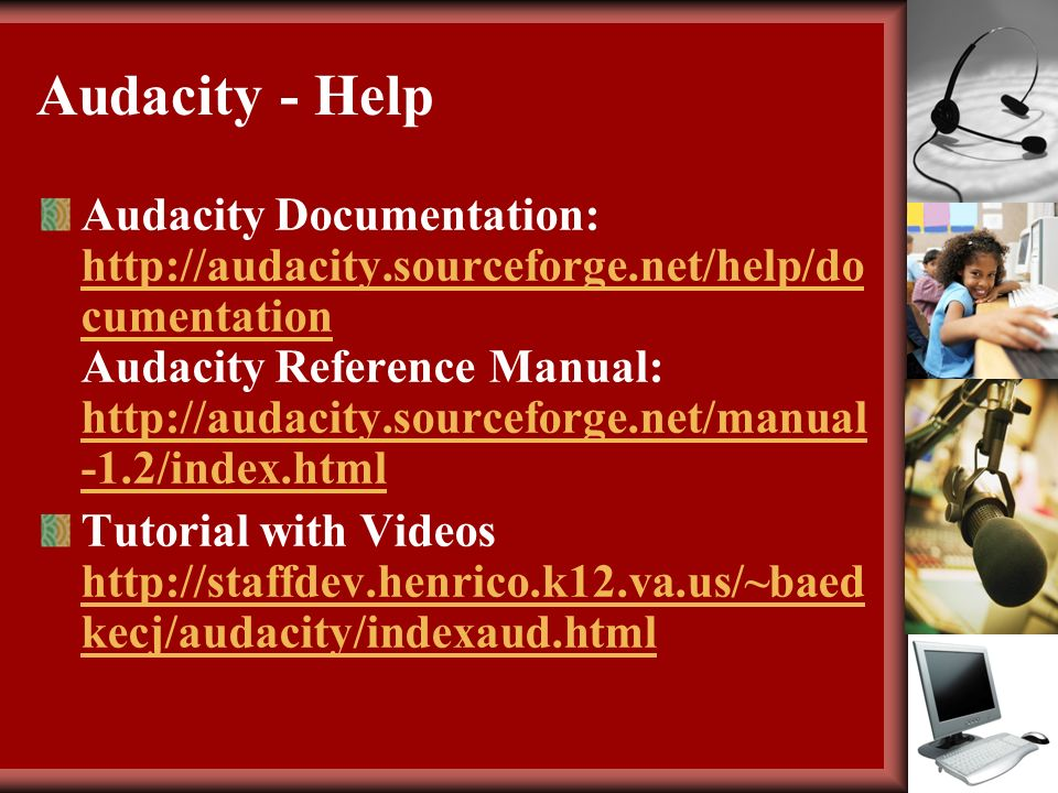 Step by step guide to using audacity pdf.