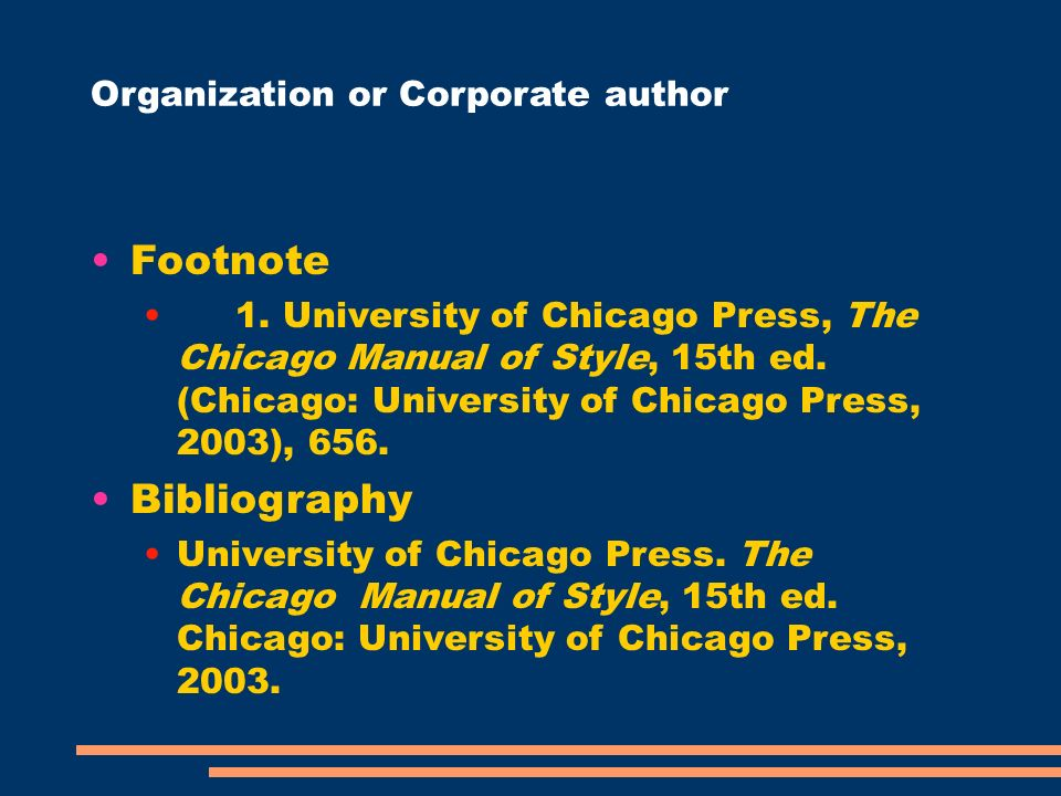 chicago manual of style footnotes generator (chicago manual of style, 15th ed, sections 17270, 17272) structure: creator's last name, first name, middle initial (or filmographer's name if no director is specified, but indicate role.