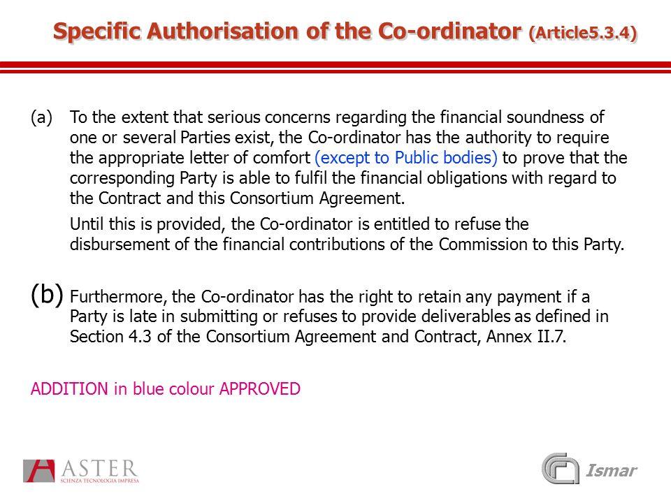 Ismar The Nearest Consortium Agreement Nearest Kick Off Meeting