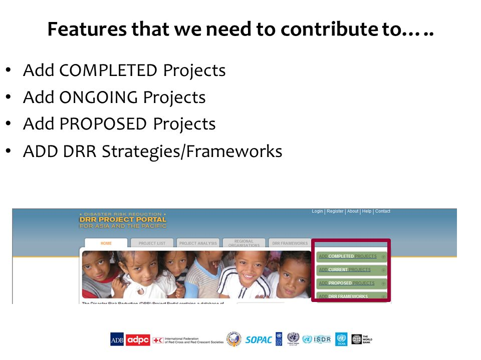 Features that we need to contribute to…..