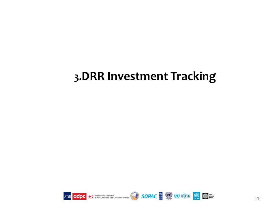 3. DRR Investment Tracking 29