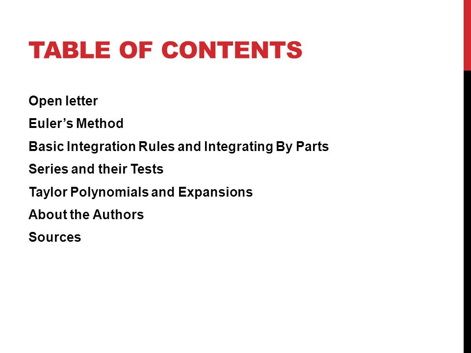 AN EDUCATED GUESS JOHANN ROSARIO KAMIL PROSTKO TABLE OF CONTENTS - Open table rules