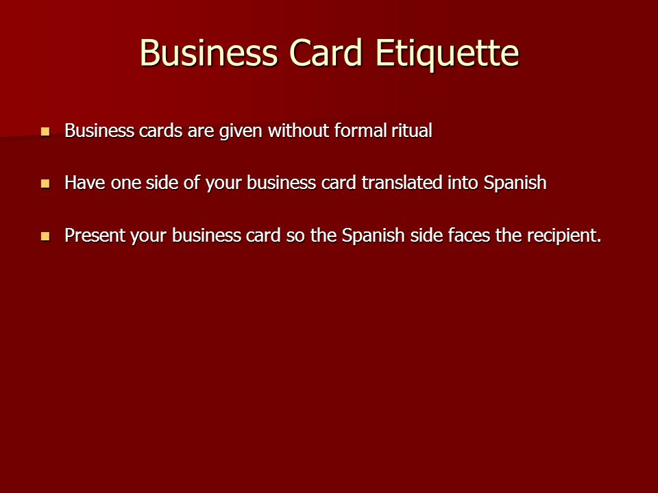 Argentina argentine republic mse608a chandresh bhati 9 th march ppt 17 business card etiquette reheart Image collections