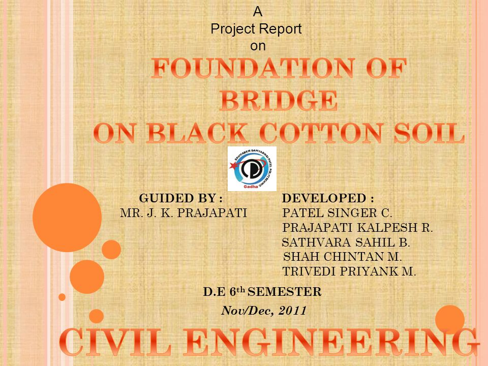 A Project Report on GUIDED BY : DEVELOPED : MR  J  K  PRAJAPATI