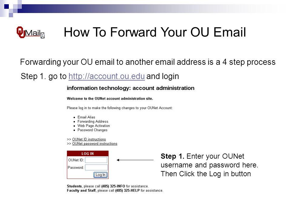 Ou email login