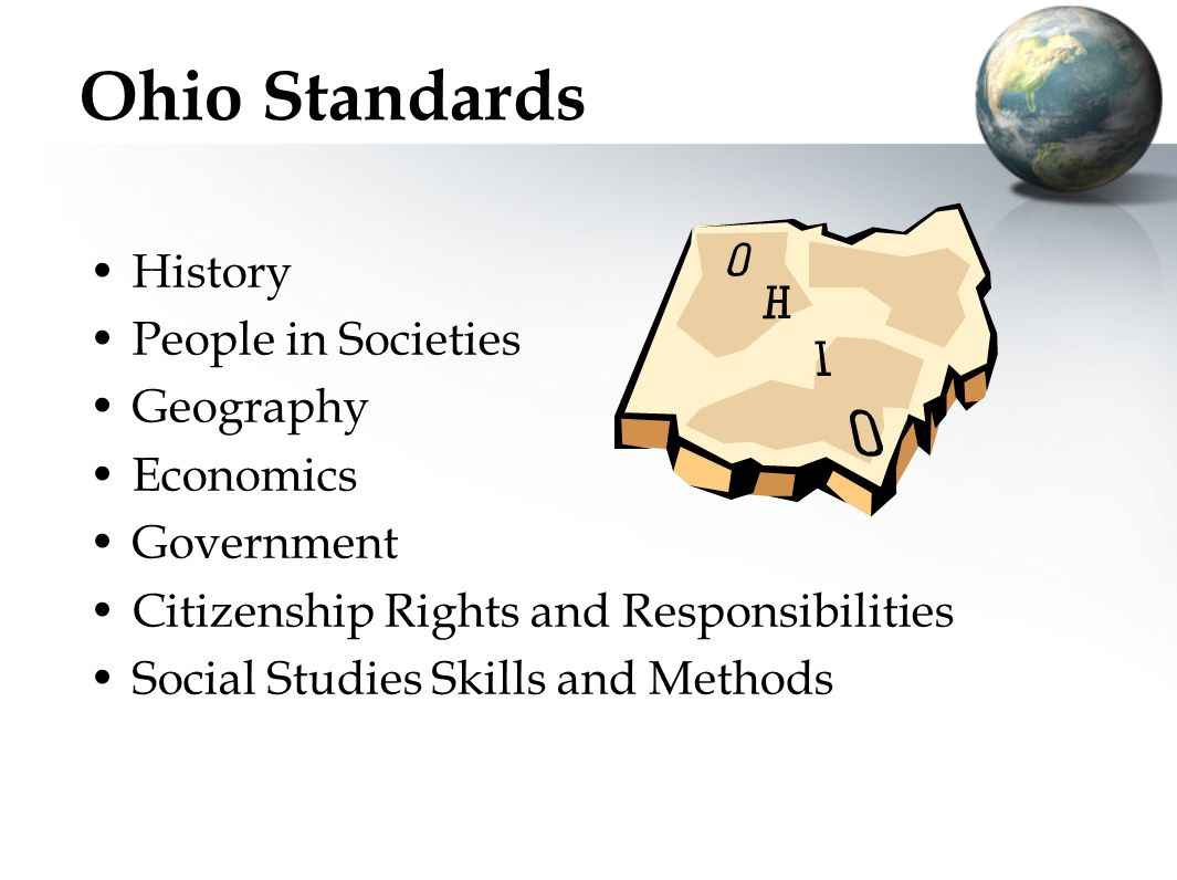 The Ohio Standards for Social Studies Kelly Enright, Beth