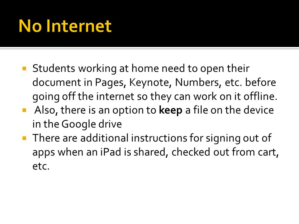  Students working at home need to open their document in Pages, Keynote, Numbers, etc.