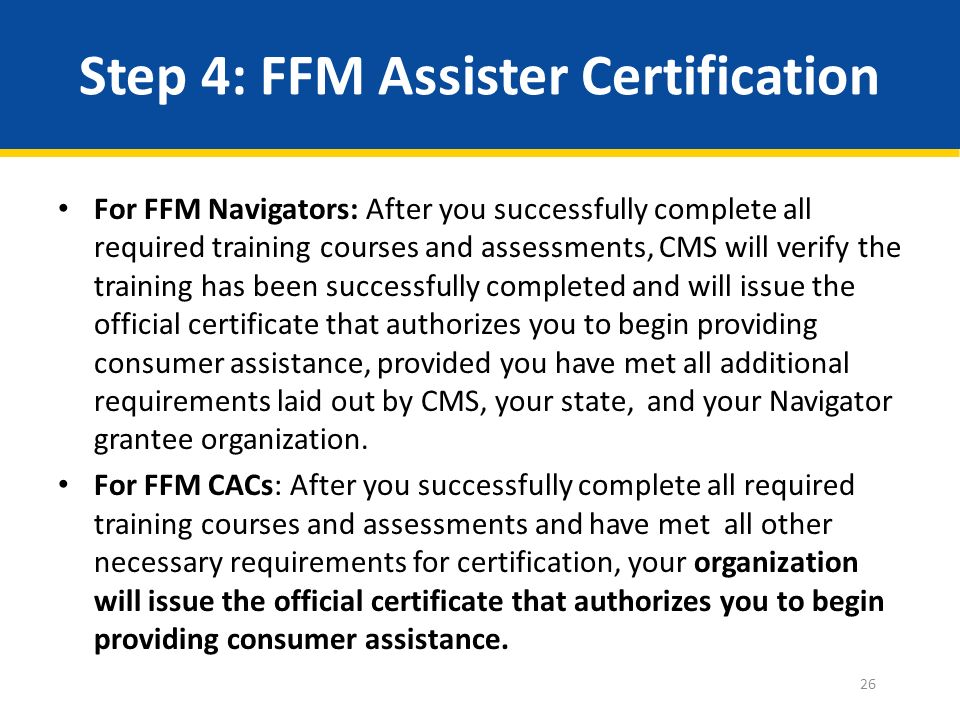 Launch of 2014 FFM Assister Training September 18, 2014 APCA ...