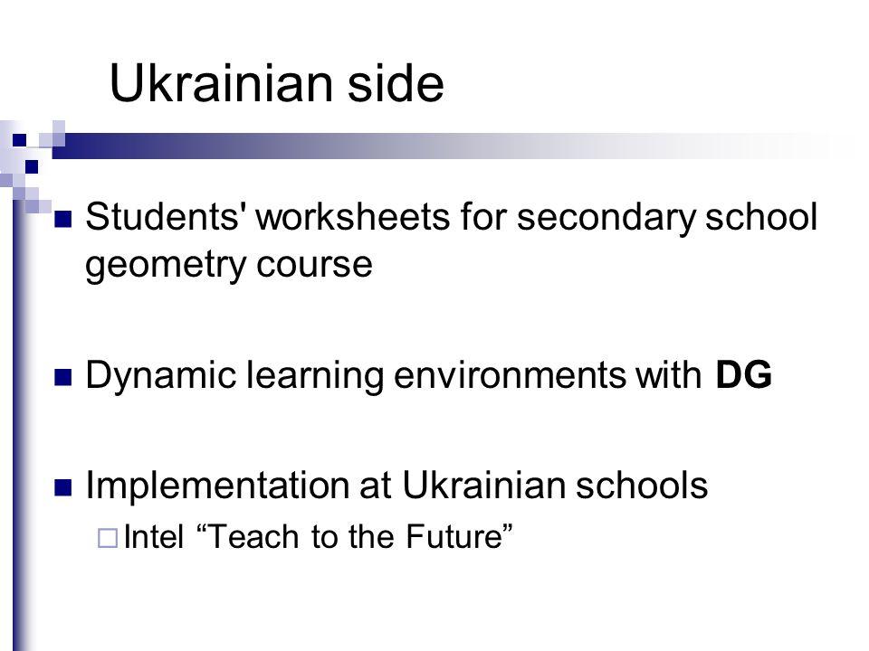 Geometric Construction In Reallife Problem Solving Valentyna. 5 Ukrainian Side Students' Worksheets For Secondary School Geometry. Worksheet. Geometry Construction Worksheet At Mspartners.co