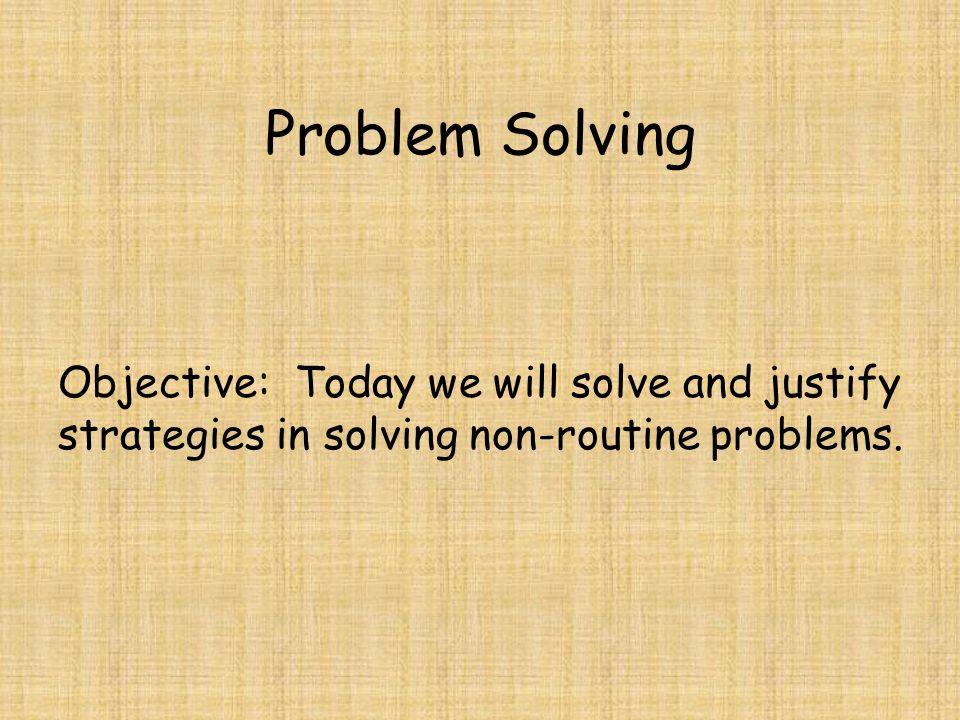 routine problem solving