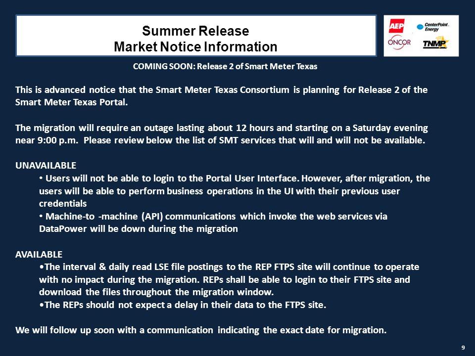 SMART METER TEXAS Status Update July 29, AGENDA Release 1