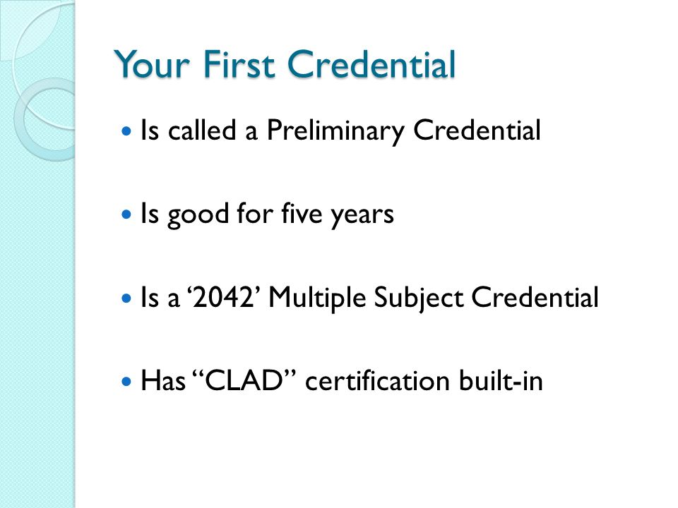 Induction How To Get A Clear Credential Multiple Subject Student